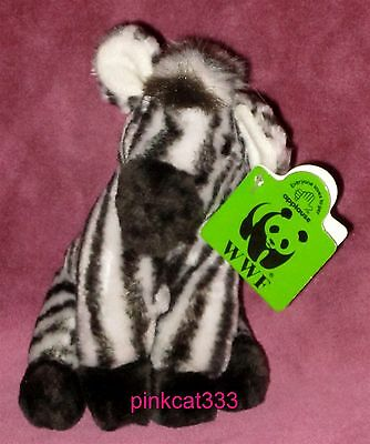 "1990 Wwf Applause Plush Zebra~6"" Tall~St Louis Zoo Toy~Stuffed Wild Animal~Nwt"