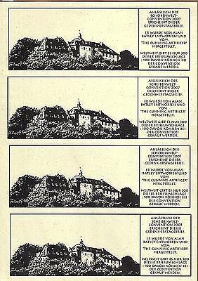 Discworld Stamps Uncut German Con 2007 Cover Insert Sheet -German Version(11577)