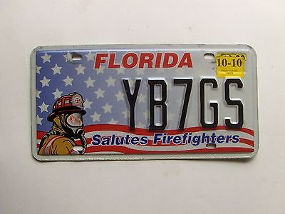 Florida Salutes Firefighters License Plate