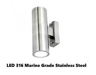 LED Outdoor Up Down Wall Light 316 Stainless Steel Brilliant Lighting 19402/16