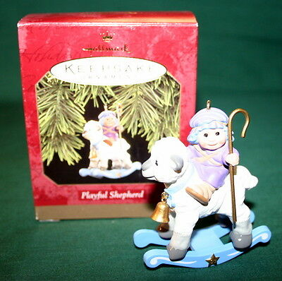 Hallmark Ornament 1997 Playful Shepherd   So Cute
