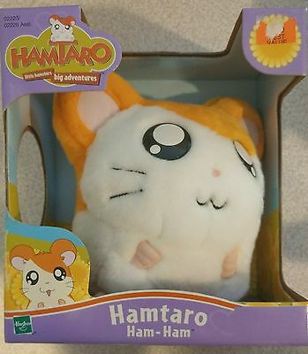 "Hamtaro HAM-HAM Plush 6"" Stuffed Animal in box - Hasbro 2002 nib"