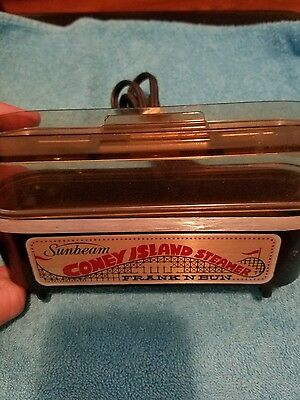 Vintage 1970's Sunbeam Coney Island Steamer Frank' N Bun   Tested and works