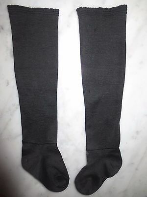 Lovely Antique Black Cotton Stockings NOS for Small Child or Doll ? 1920's ?