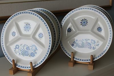 "6 x TURI DESIGN NORWAY ""LOTTE"" MAN/WOMAN  Divided Plates"