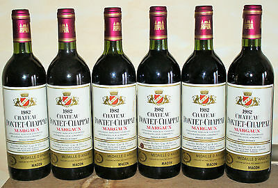 Lot 6 bt Chateau Pontet-Chappaz 1982 Margaux rouge French Wine Exceptional Year