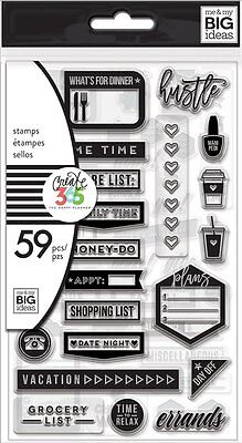 Create 365 The Happy Planner EVERYDAY Clear Stamps - 59pcs