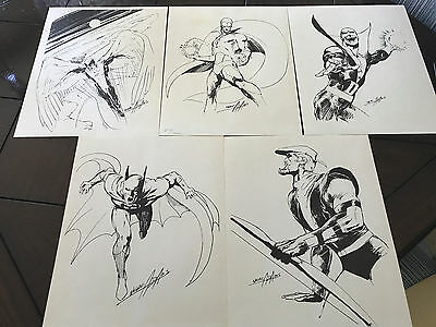 5 Reprints of Neal Adams Signed Sketches