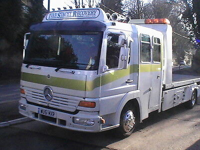 Recovery Transporter  Merc 817 Crew Cab  With Ultra Low Demountable  Body