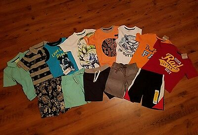 NWT Toddler Boys  Spring Summer Clothes Lot ~Size 3T~ Shirts Shorts New