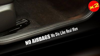 NO AIRBAGS Aussie 4x4 V8 JDM Turbo Accessories Funny Stickers 400mm (x2)