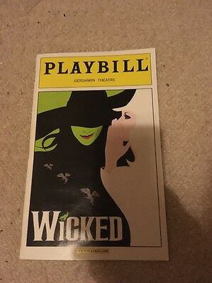 Wicked Playbill Programme Broadway Gershwin Theatre Musical Kerry Ellis