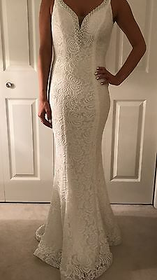 White Lace Dress Pageant Prom Gown Size 2