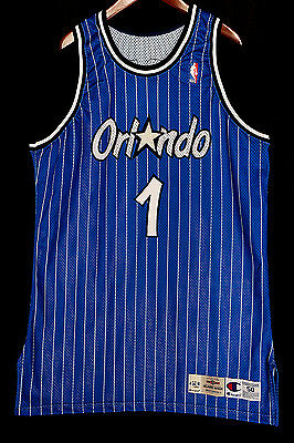 100% Authentic Penny Hardaway Champion Game Issued Signed Magic Jersey JSA LOA
