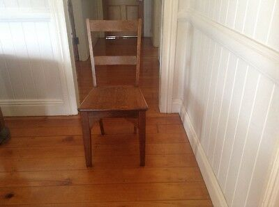 Antique Solid  Silky Oak Chair