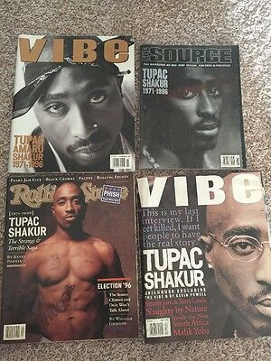 Death Of Tupac Shakur Magazine Lot! Vibe, Source, Rolling Stone!