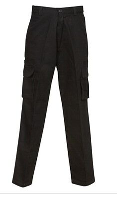 2 Pairs 92S mens Black Heavy Cotton Drill work pants (8 Pockets)