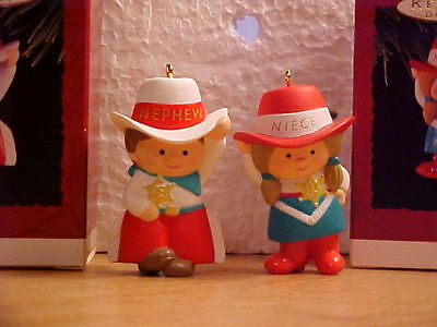 Hallmark Ornament 1993 Nephew And Niece Cute Little Cowboy & Cowgirl