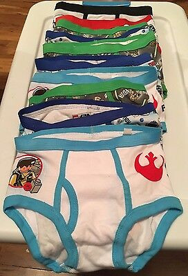 Star Wars Little Boys' Lego Star Wars 10 Pairs Underwear Brief, Multi,Size 6