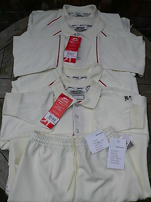 Selection of Brand New Cricket Shirts and Trousers Boys aged 10-12