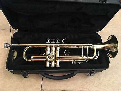 Pre-Owned Glenn Edward brass TRUMPET With Mouthpiece And Hard-case