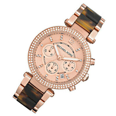 100% New Michael Kors Parker Rose Gold 39mm Wrist Women's Ladies Watch MK5538