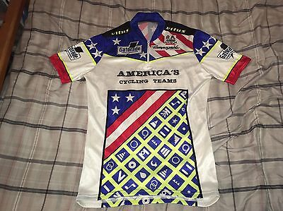 Vintage R Ando America's Cycling Team Short Sleeve Jersey Size XL Campagnolo