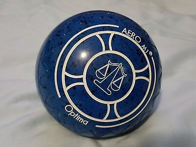 Aero Optima Size 3.5H Lawn Bowls WB22  gripped excellent condition