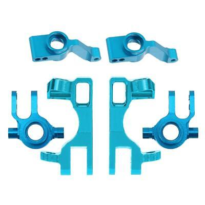 Blue Steering Front & Rear Hub Carrier Aluminum Alloy 1:10 RC Car Accessory
