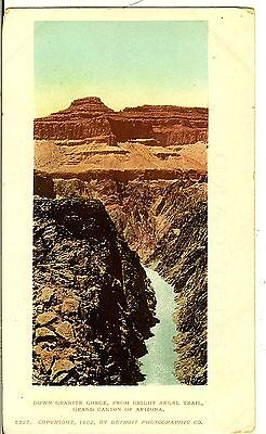 Grand Canyon, AZ, Down Granite Gorge, From Bright Angel, Trail. c1905