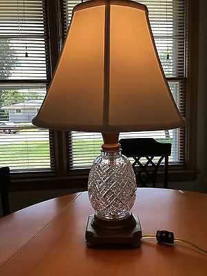 WATERFORD crystal Lamp With Original Waterford Shade BEAUTIFUL stamped