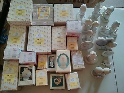 Enesco Precious Moments figurines Lot of 31  (19 with original boxes 12 loose)