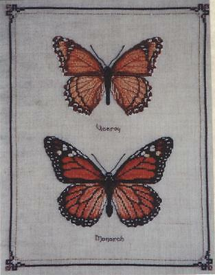 Monarch & Viceroy Butterflies - Cross Stitch Chart - Free Postage