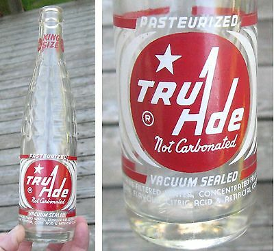 1945's RARE VINTAGE SODA BOTTLE ACL TRUADE 10 OZS EMBOSSED TRU-ADE MONTREAL