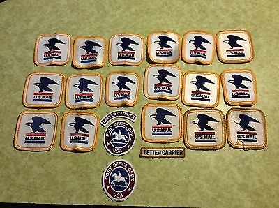 WOW 21 Vintage NOS  US Post Office Dept Mail Carrier Patches Letter Carrier USA