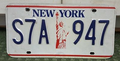 """New York """"Statue of Liberty"""" License Plate"""