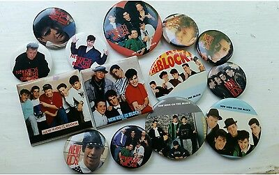 New Kids on the Block Vintage 90s authentic pinback buttons lot of 14
