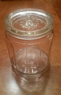Antique Apothecary Glass Jar and Lid AAFA