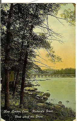 New London, Conn, Richards Grove, View along the Shore, c1910