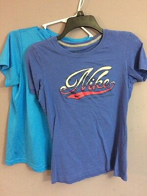 Nike Girls Athletic Shirts (Lot of 2) Size M Youth GUC