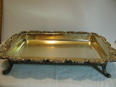 Vintage Silver Plate 5936 Footed Serving Tray Old English Silver By Poole