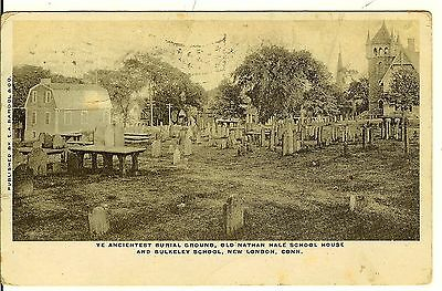 New London, CT-Ye Ancientest burial Ground, 1906, Publisher:E. Bardol
