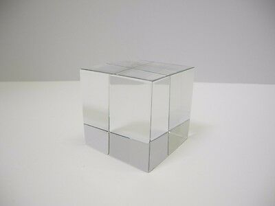 BACCARAT France Fine Crystal Glass CUBE Paperweight