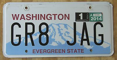 GREAT JAGUAR - WASHINGTON license plate  Jan2014  GR8 JAG