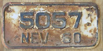 NEVADA 1960 MOTORCYCLE license plate  1960  5057
