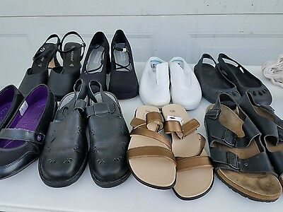 8 Pair Size 10 Womens Shoes,including 1 Pair Birkenstock