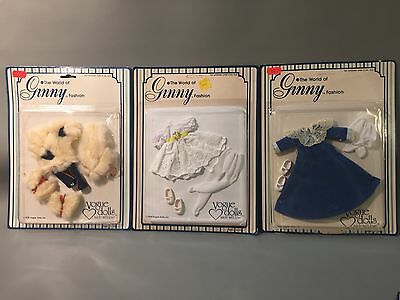 Lot of 3 Vtg 1978 VOGUE Doll Clothing THE WORLD OF GINNY FASHIONS ~ Large Cards