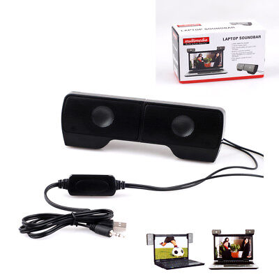 Protable External Clip-on USB Speaker Stereo Music Player for PC Laptop Notebook