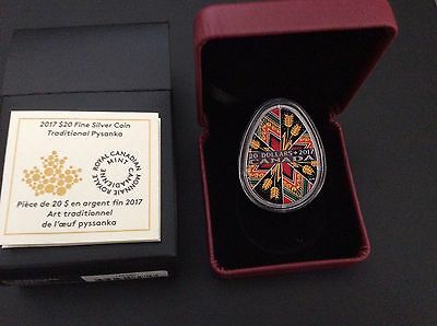Royal Canadian Mint 2015 Fine Silver Coin Traditional Pysanka
