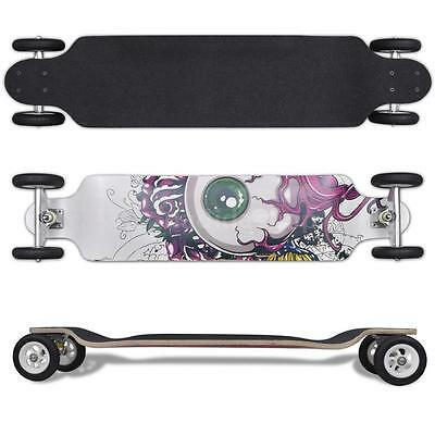 NEW Eyeball Pattern Drop-down Longboard 103 cm with Big Wheels W2D1